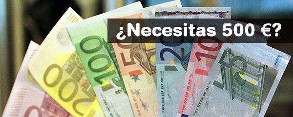 Necesito 500 euros urgentes